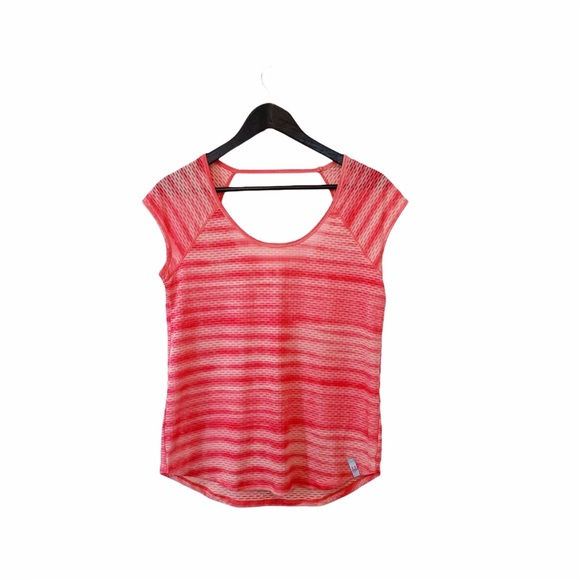 Under Armour Coral Semi Sheer Texture T-shirt